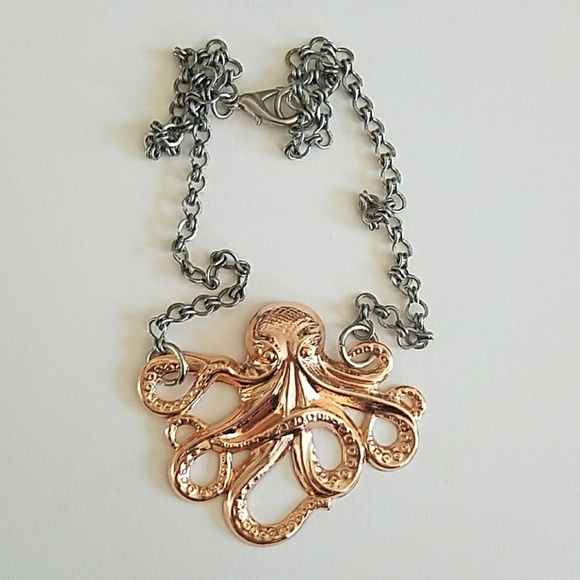 57 off GASOLINE GLAMOUR Jewelry Rose Gold Octopus Necklace With
